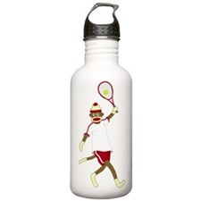Sock Monkey Tennis Water Bottle