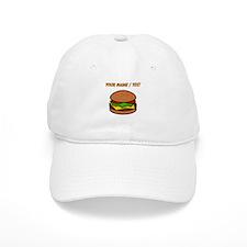 Custom Hamburger Baseball Baseball Cap