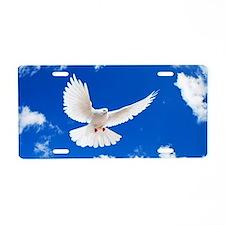 Purity Dove Aluminum License Plate