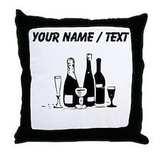 Custom Champagne Throw Pillow
