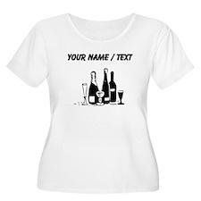 Custom Champagne Plus Size T-Shirt