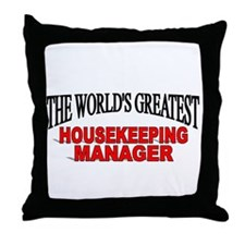 """The World's Greatest Housekeeping Manager"" Throw"