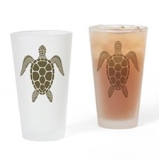 Brown Turtle Drinking Glass