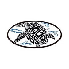 Swimming Black Turtle Patches