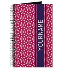 Pink Whimsical Flower Pattern Journal