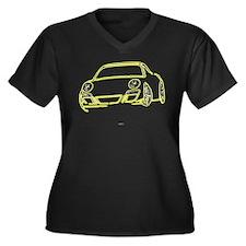 Killer Cayman Women's Plus Size V-Neck Dark T-Shir