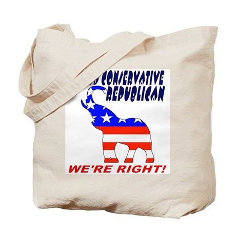 Proud Conservative Republican Tote Bag