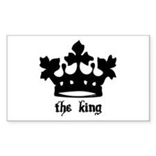 Medieval King Black Crown Rectangle Decal