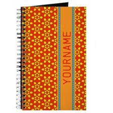 Floral Pattern Personalized Journal