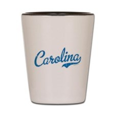 North Carolina Script Font Vintage Shot Glass