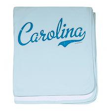 North Carolina Script Font Vintage baby blanket