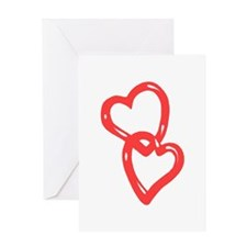 Two Hearts Greeting Cards