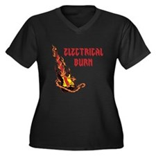 Electrical Burn Guitar Plus Size T-Shirt