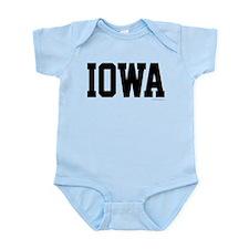 Iowa Jersey Black Infant Bodysuit