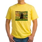 Lilies (2) & Schipperke Yellow T-Shirt