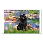 Lilies (2) & Schipperke Sticker (Rectangle)