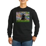 Lilies (2) & Schipperke Long Sleeve Dark T-Shirt