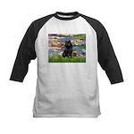 Lilies (2) & Schipperke Kids Baseball Jersey