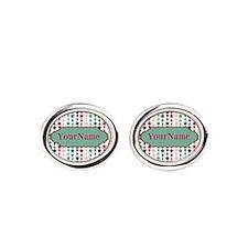 Stars Pattern Personalized Oval Cufflinks