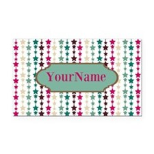 Stars Pattern Personalized Rectangle Car Magnet
