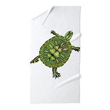 Multi Green Turtle Beach Towel