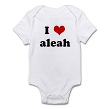 I Love aleah Infant Bodysuit