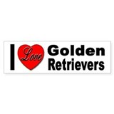 I Love Golden Retrievers Bumper Bumper Sticker