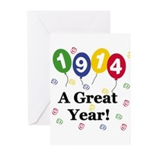 1914 A Great Year Greeting Cards (Pk of 10)