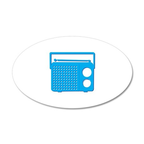 Blue Radio Wall Decal