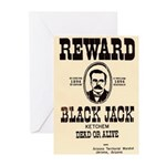 Black Jack Ketchem Greeting Cards (Pk of 10)