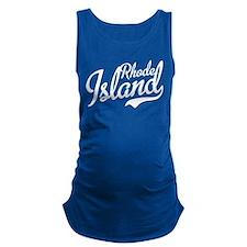 Cute Ilove rhode island Maternity Tank Top