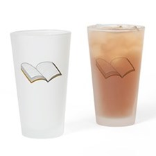 Open Book Drinking Glass