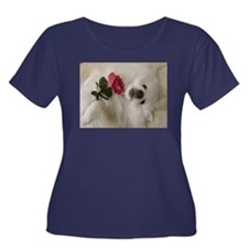 American Eskimo Dog Women's Plus Size Scoop Neck D