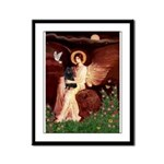 Angel (#1) & Schipperke Framed Panel Print