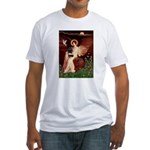 Angel (#1) & Schipperke Fitted T-Shirt