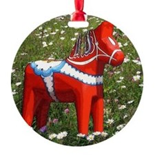 Dala Horse In Wildflowers Ornament