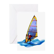 Wild Windsurfer Greeting Cards