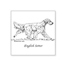 "English Setter Square Sticker 3"" x 3"""