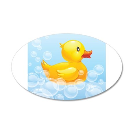 Duck in Bubbles Wall Decal