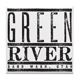 River Running Tile Coaster