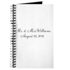 Personalized Wedding Name Date Journal