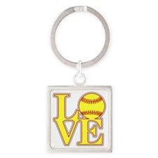 Cute Slow pitch Square Keychain