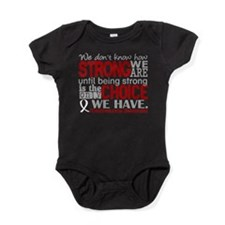 Mesothelioma HowStrongWeAre Baby Bodysuit