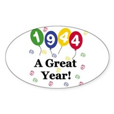 1944 A Great Year Oval Decal