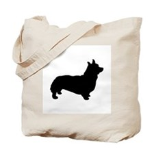 corgi black 1C Tote Bag