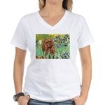 Irises & Ruby Cavalier Women's V-Neck T-Shirt