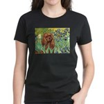 Irises & Ruby Cavalier Women's Dark T-Shirt