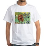 Irises & Ruby Cavalier White T-Shirt