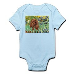 Irises & Ruby Cavalier Infant Bodysuit