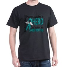 -Heaven Needed a Hero Grandma Ovarian Cancer T-Shi
